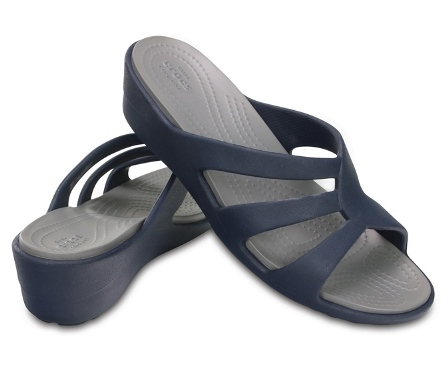 Crocs Sanrah Strappy Wedge/Navy ÚJ