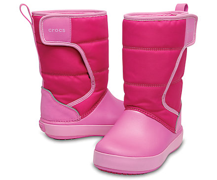 Crocs Kids LodgePoint Snow Boot gyerek csizma/Candy Pink