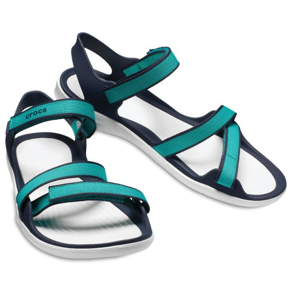 Crocs Swiftwater Webbing Női Szandál/Tropical Teal