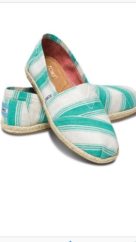 Toms Classic Aqua Umbrella Stripe n