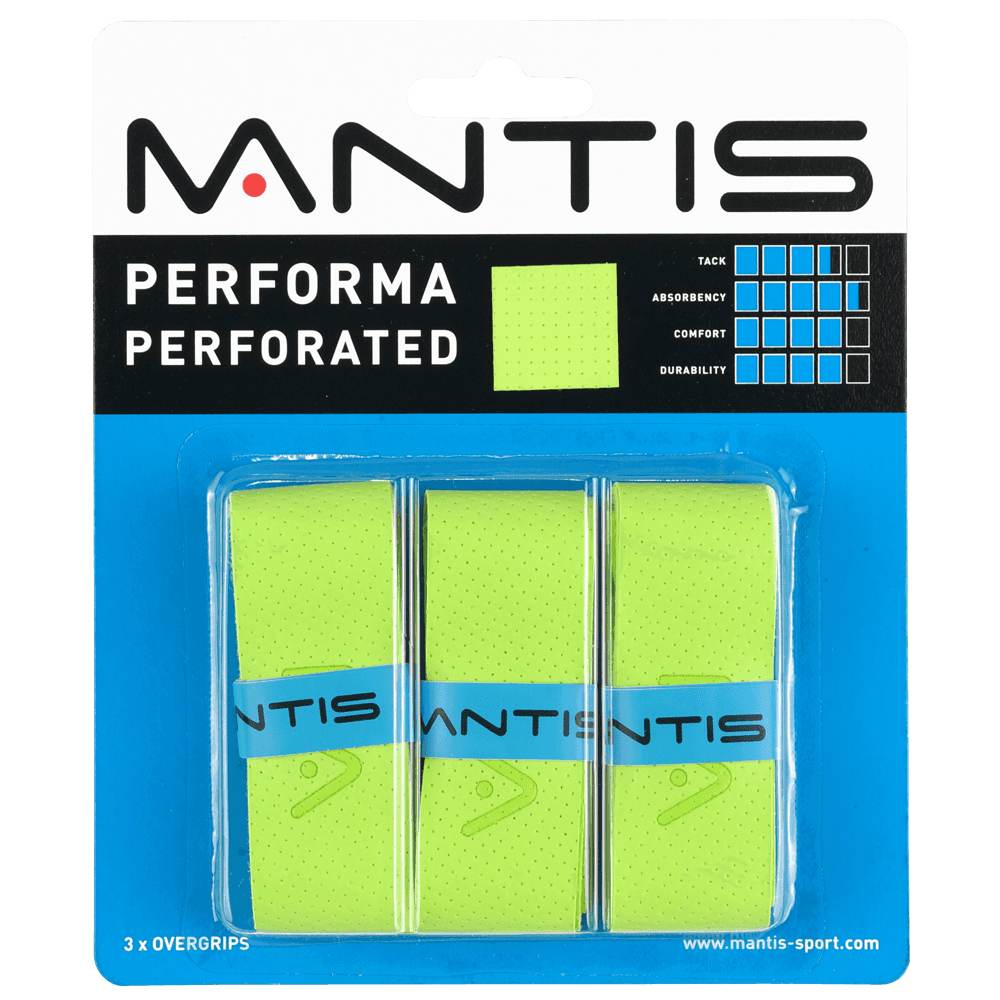 Mantis Performa Perforated fedőgrip green / 3db