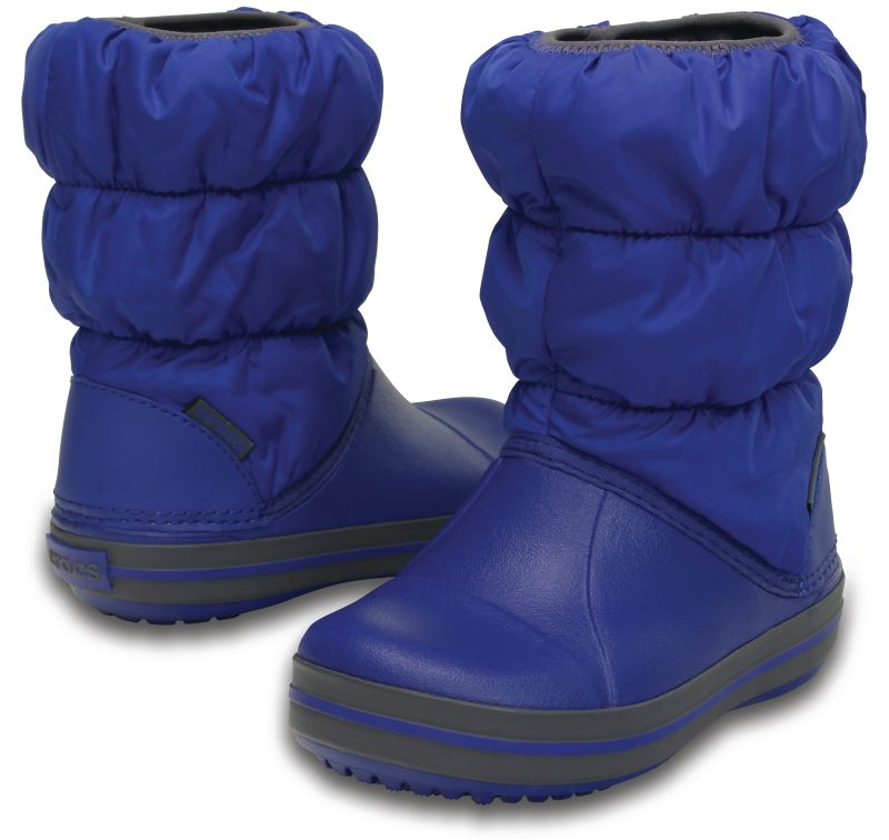 Crocs Winter Puff Boot Cerulean Blue gyerek csizma