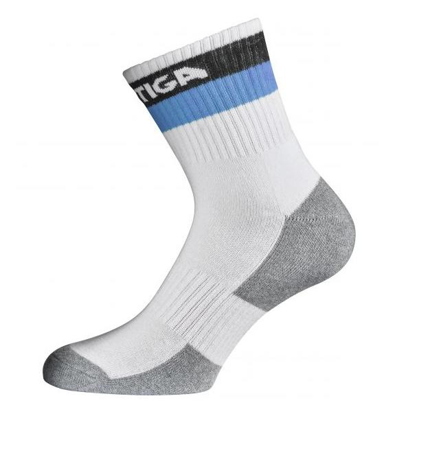 Stiga Prime Semi High Socks White/Blue JR