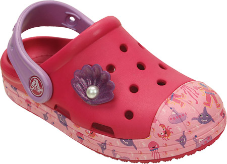 Crocs Bump It Sea Life Clog gyerek papucs Raspberry