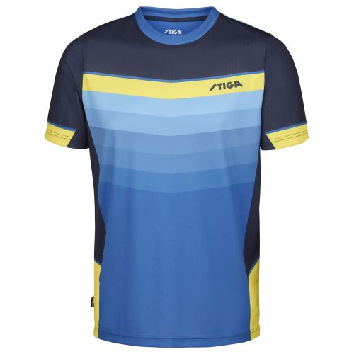 Stiga River Shirt uniszex póló Blue/Yellow