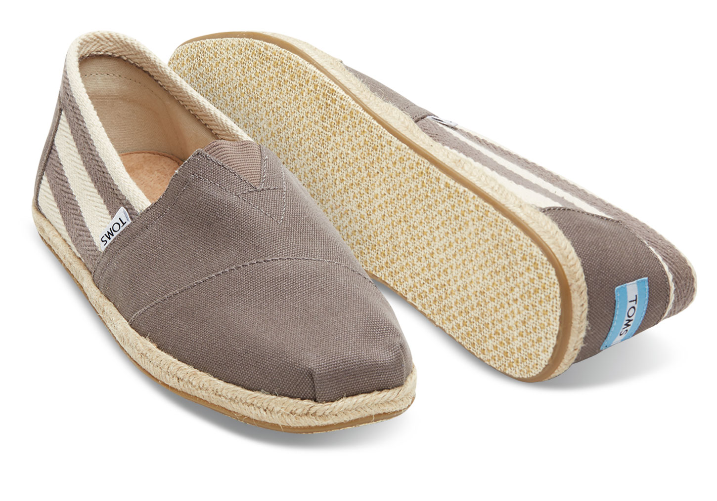Toms Classic Dark Grey Stripe University férfi cipő