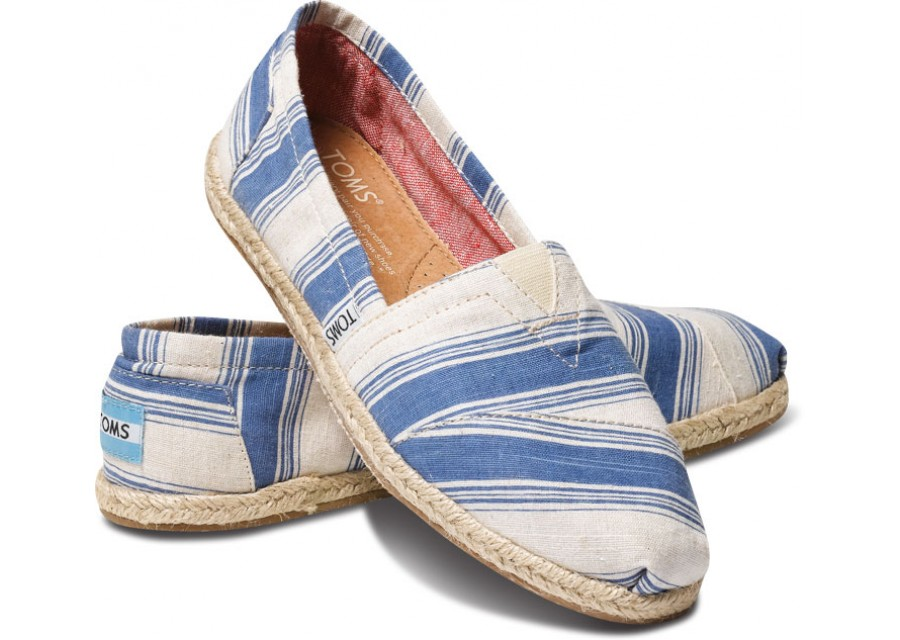 Toms Classic Navy Umbrella Stripe n
