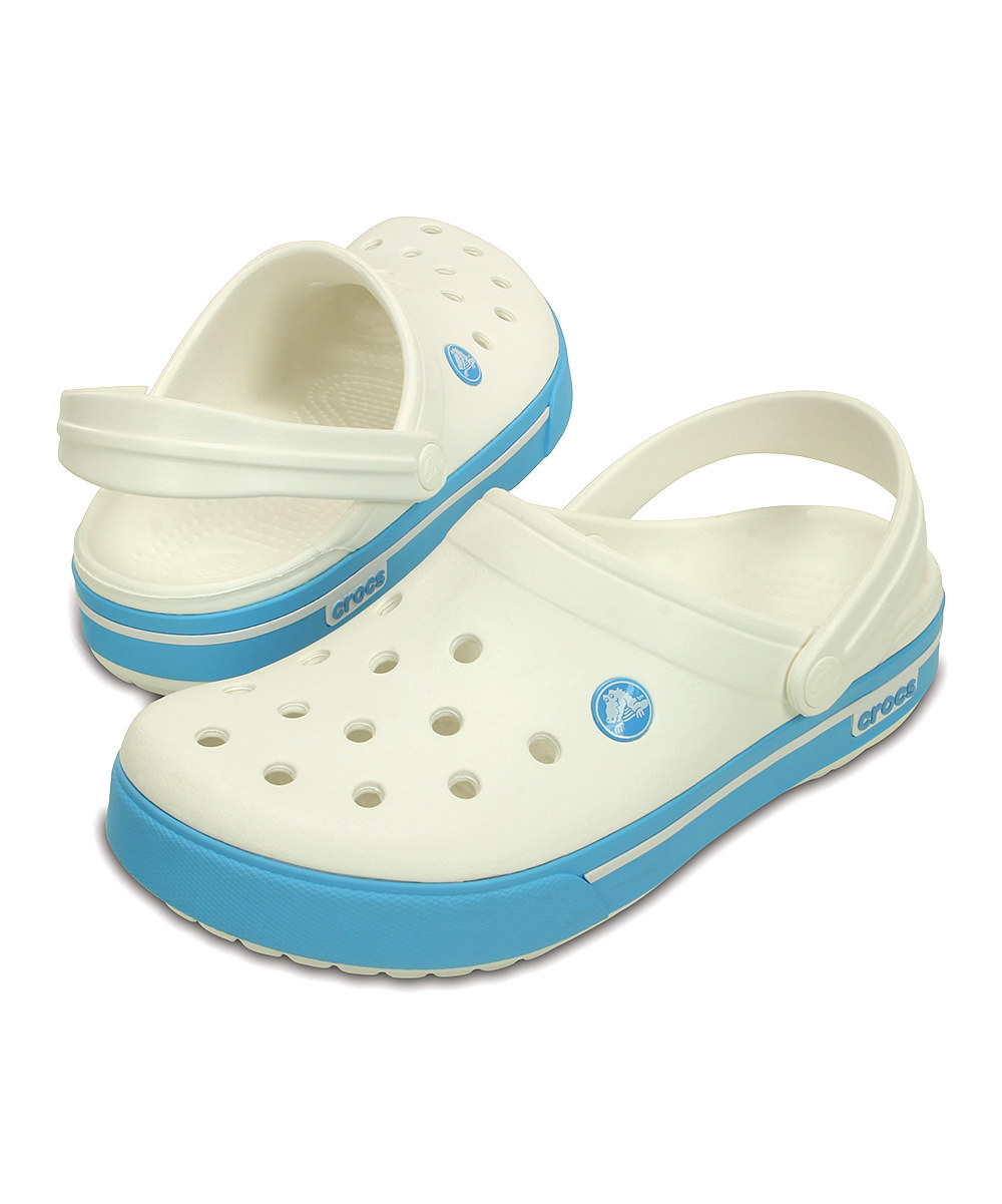 Crocs Crocband II.5 Clog Unisex Papucs White/Electric Blue
