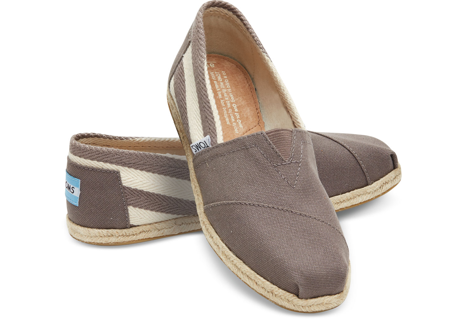 Toms Classic Dark Grey Stripe University női cipő