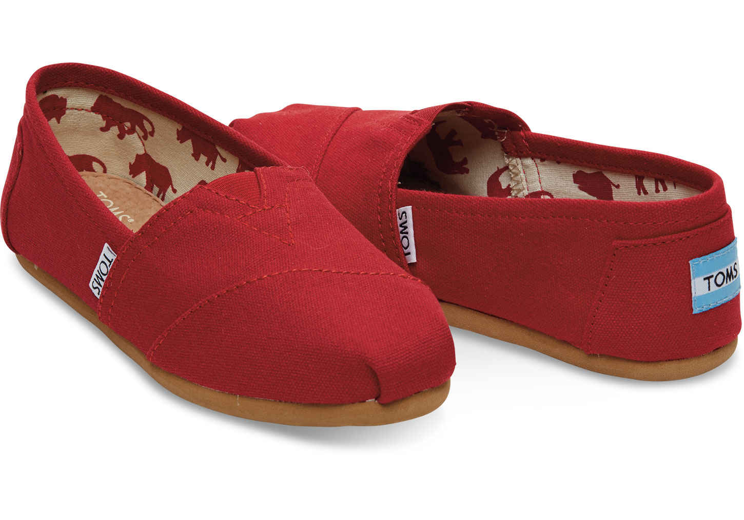 Toms Classic Red Canvas női cipő