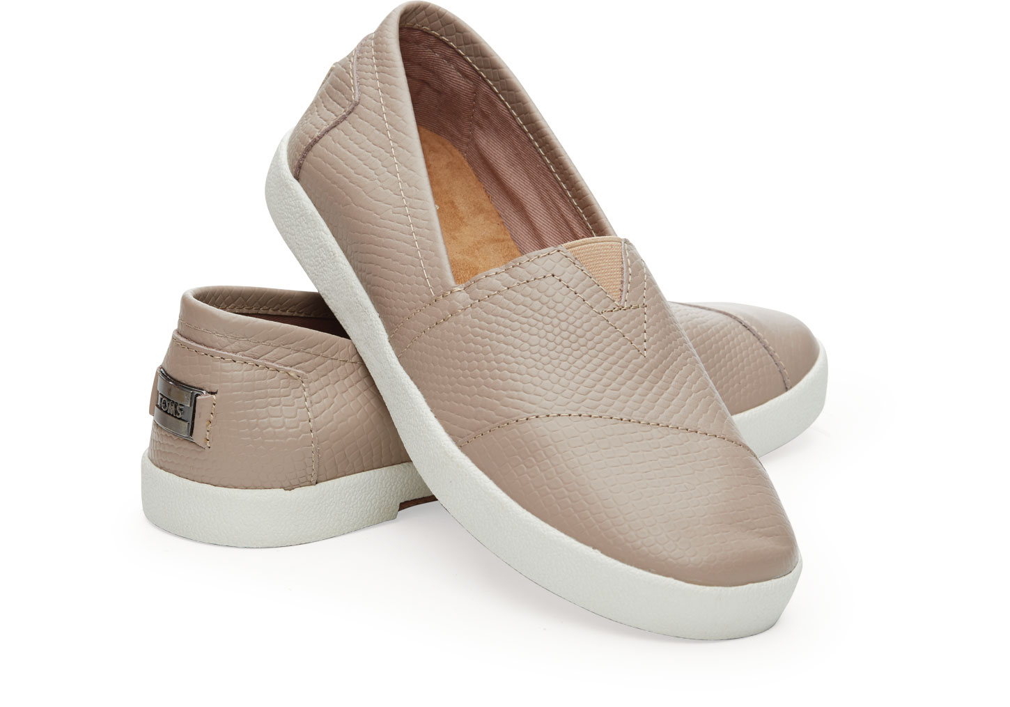Toms Avalon Sneaker	 Stucco Leather Embossed női bőr cipő