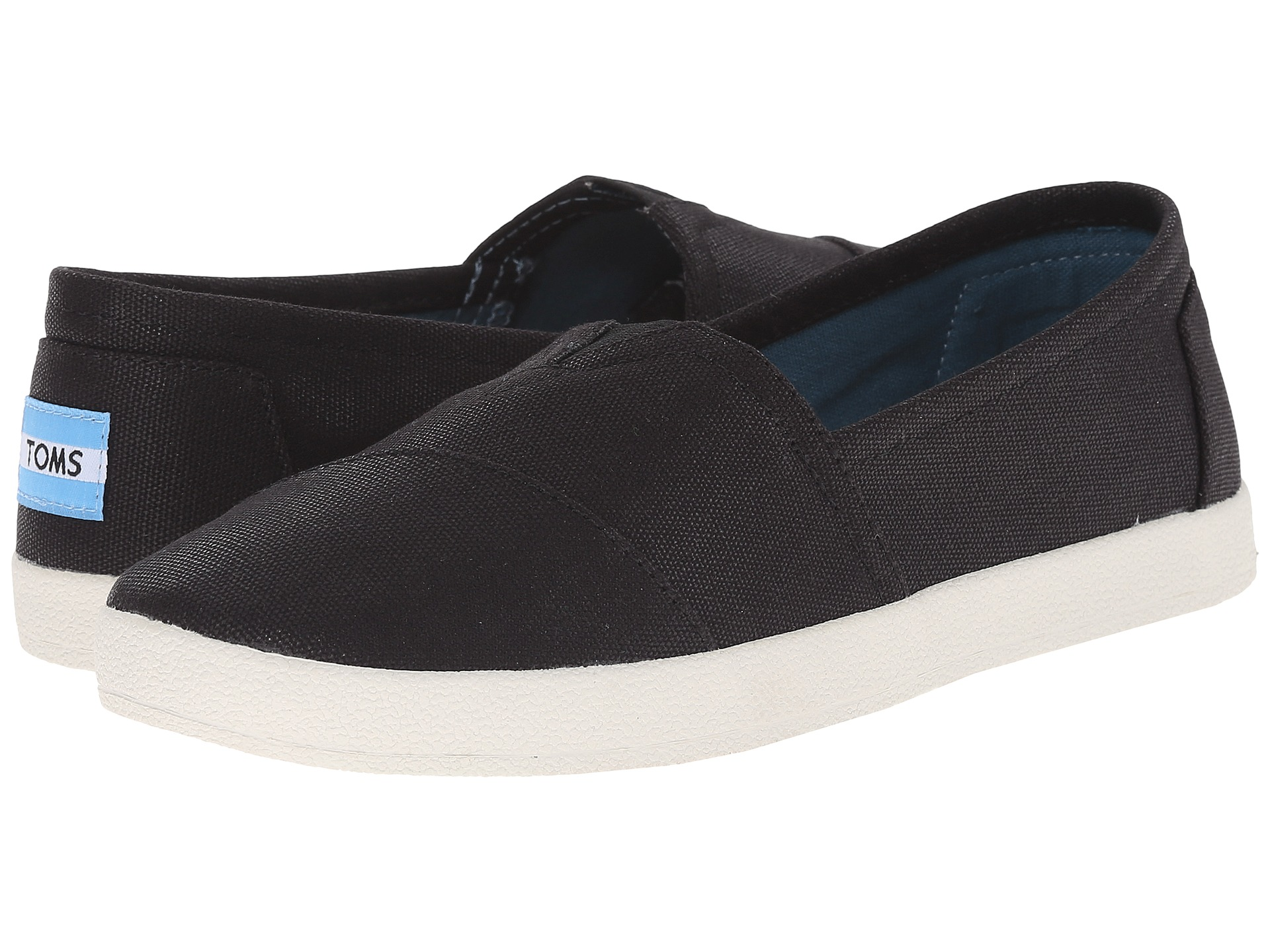 Toms Avalon Black Leather női cipő